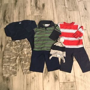 6-12 months Baby boy lot of 7 pieces long sleeve